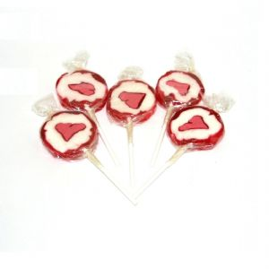 30 x Love Valentines Hearts Rock Lollies - Sweets Candy Fruity Lollies